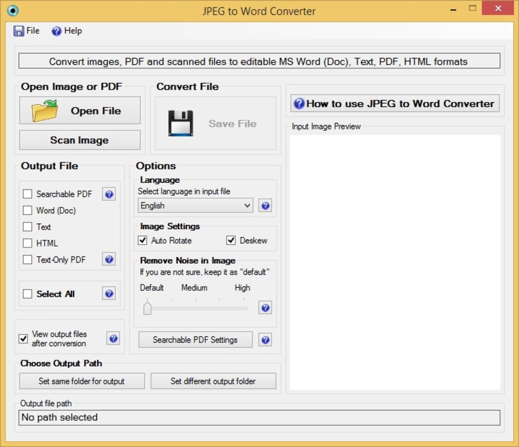 JPEG to Word Converter - Download