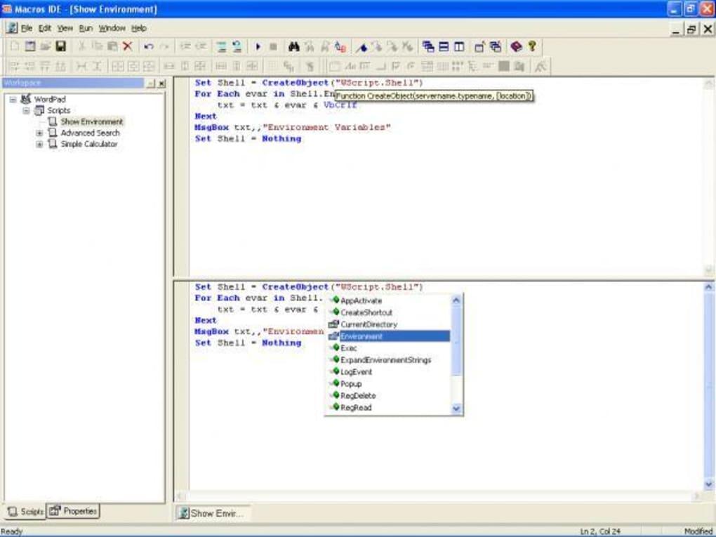 Macros IDE - Download
