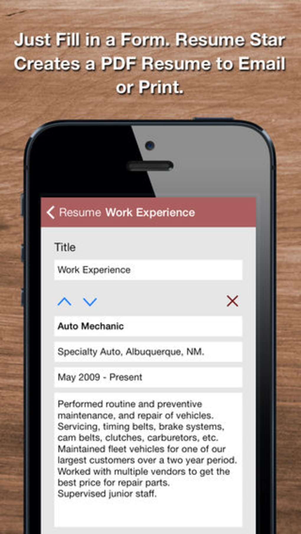 Resume Star for iPhone - Download