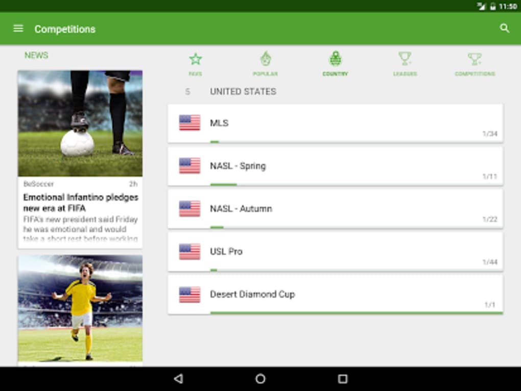 besoccer soccer live score for android ダウンロード