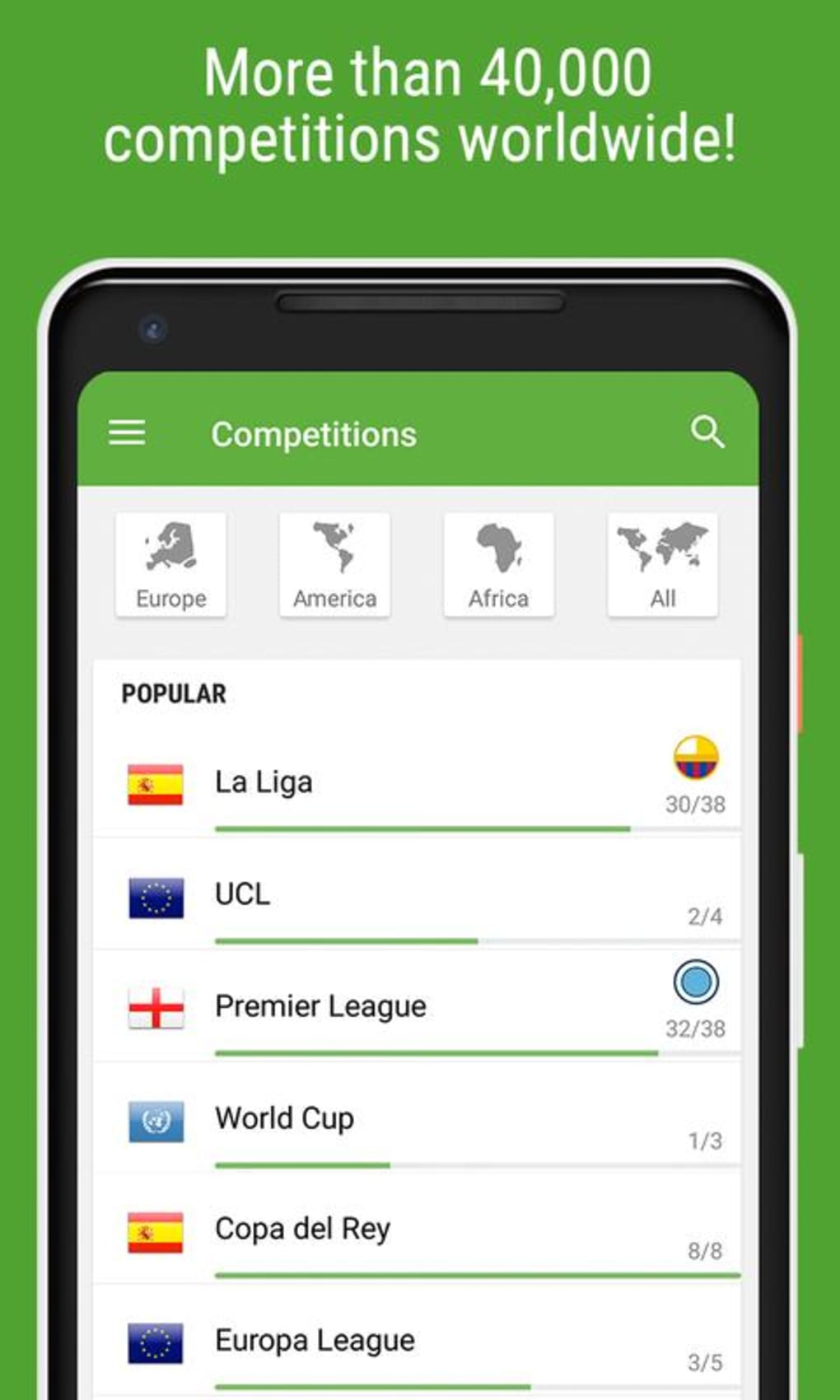 BeSoccer - Soccer Live Score for Android - Download