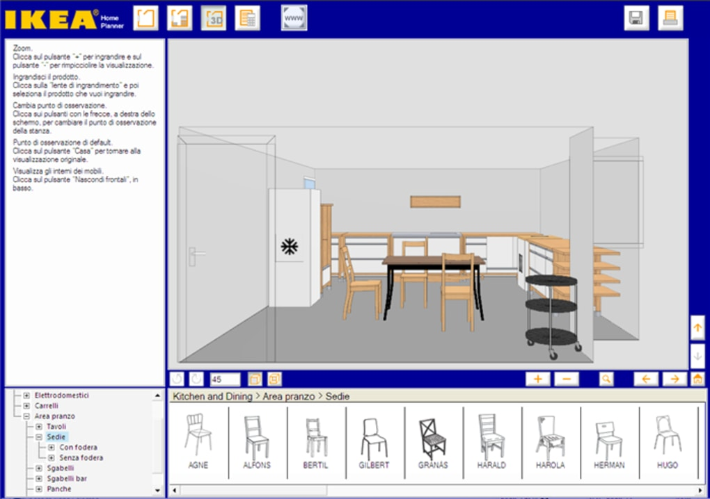 Ikea home planner cucina download for Programma arredamento ikea