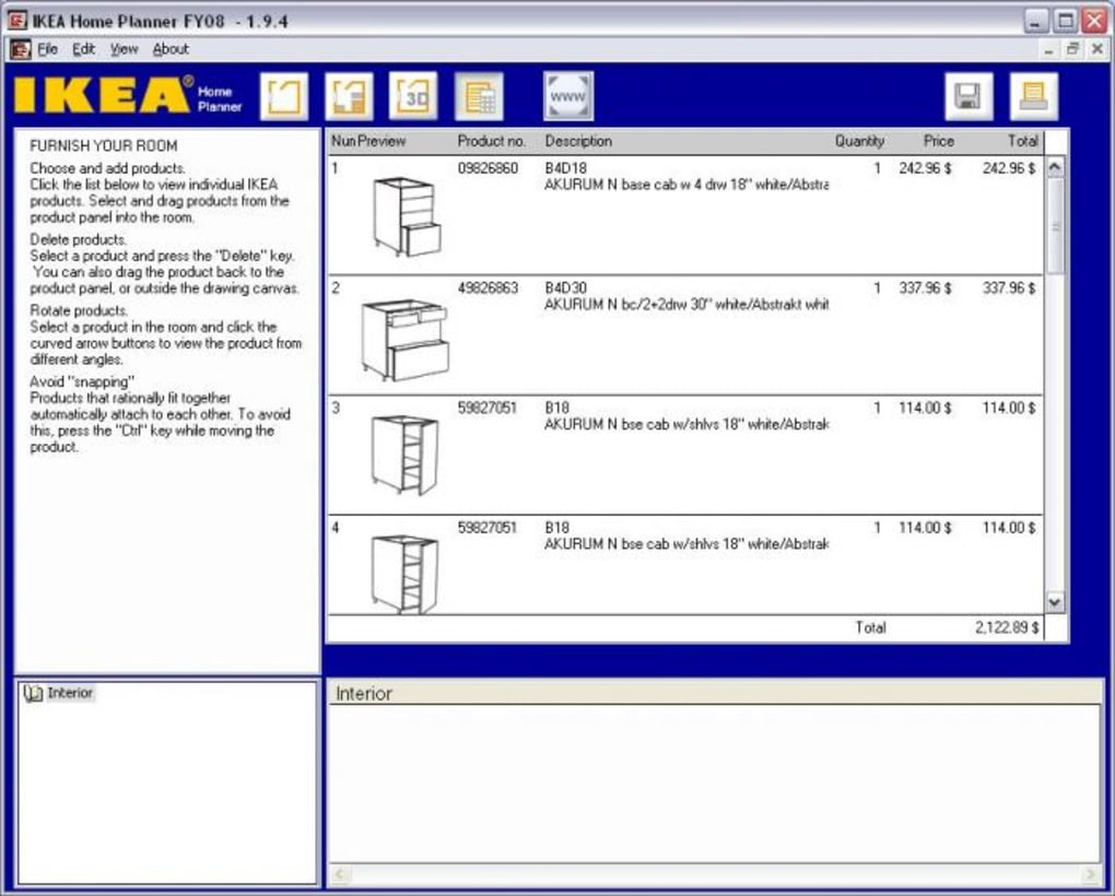 IKEA Home Kitchen Planner. PROS