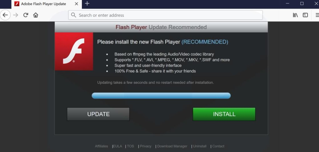 flash player offline download firefox