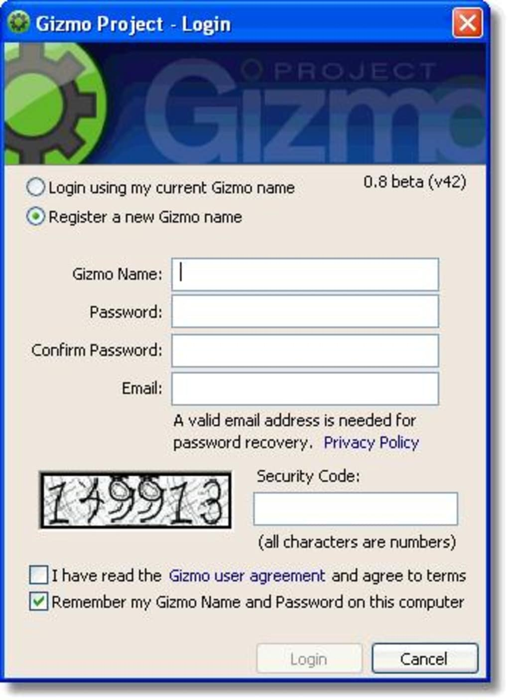 gizmo5 windows 7