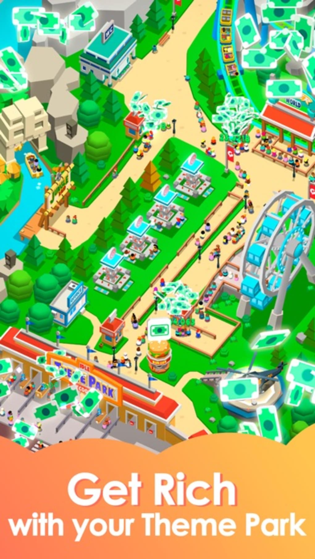 Idle Theme Park - Tycoon Game for iPhone - Download