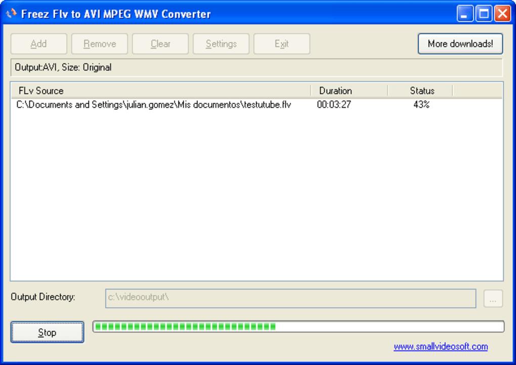 Freez flv to avi/mpeg/wmv converter descargar.