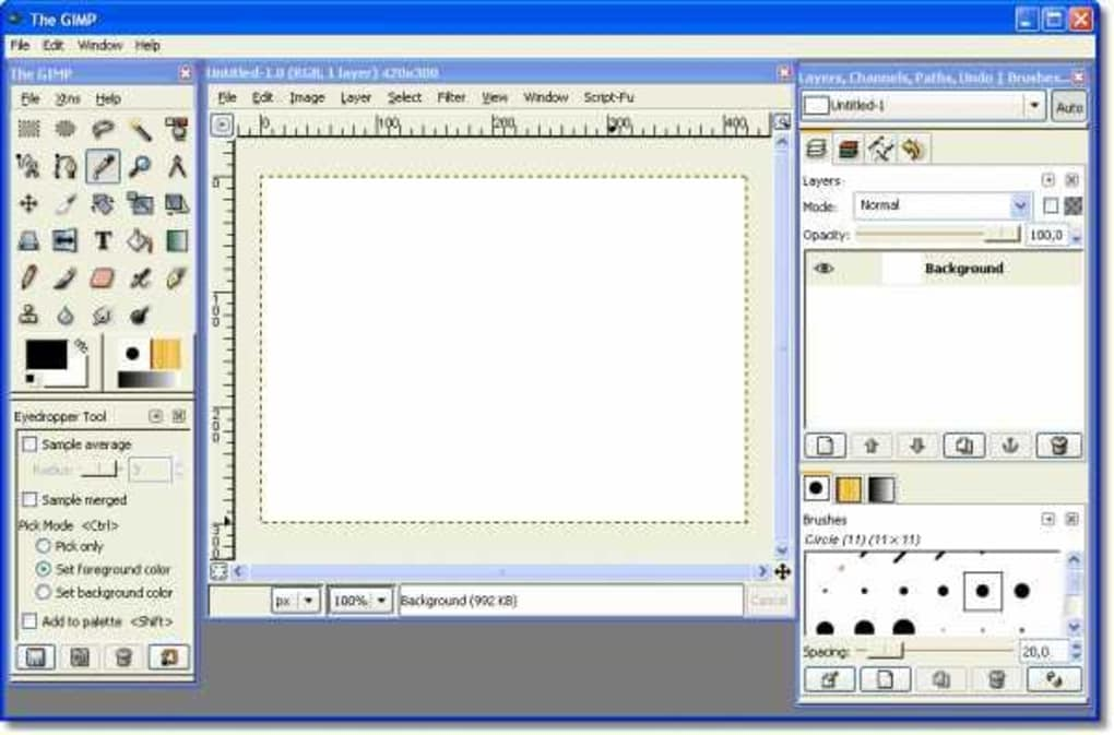 A version of GIMP that imitates Photoshop s interface