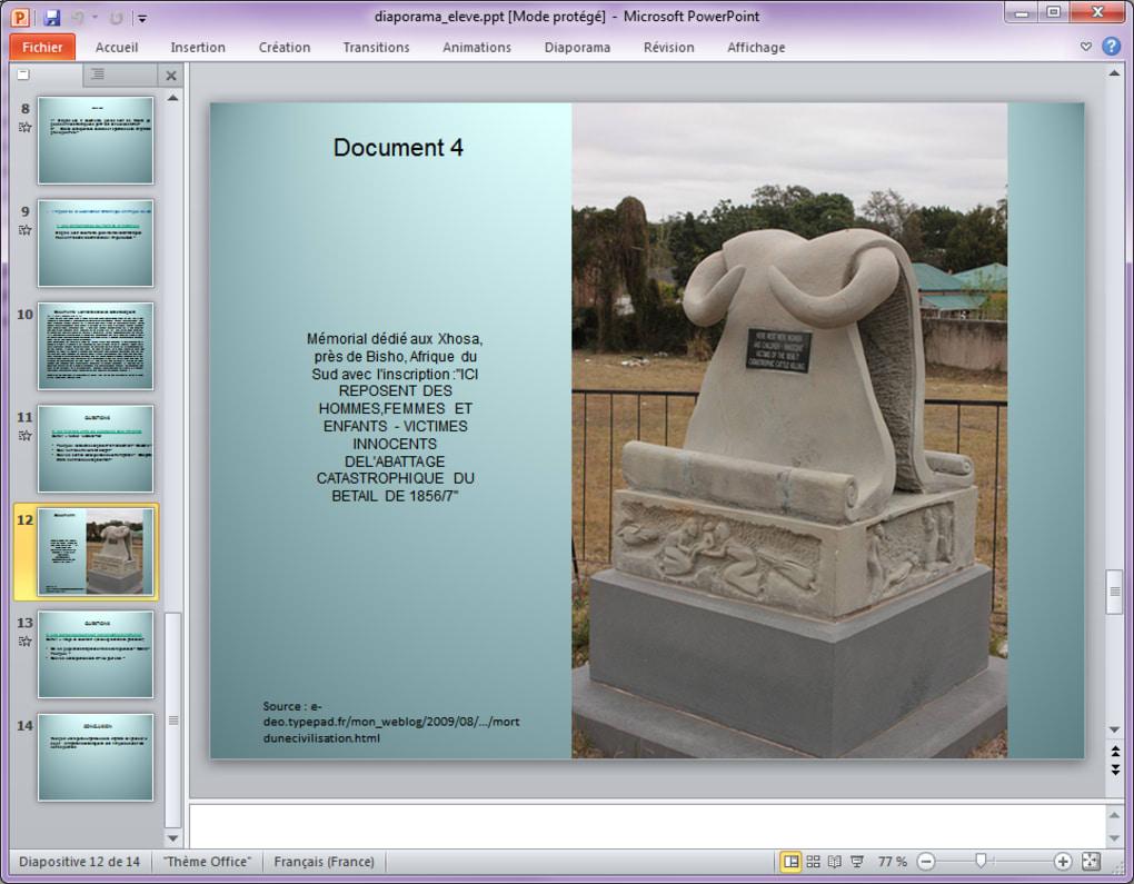 visionneuse microsoft powerpoint viewer 2007 gratuitement