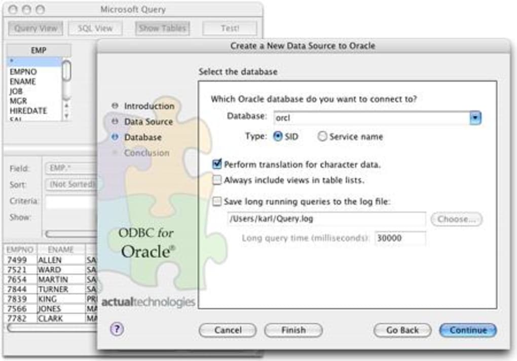 Actual ODBC Driver for Oracle for Mac - Download