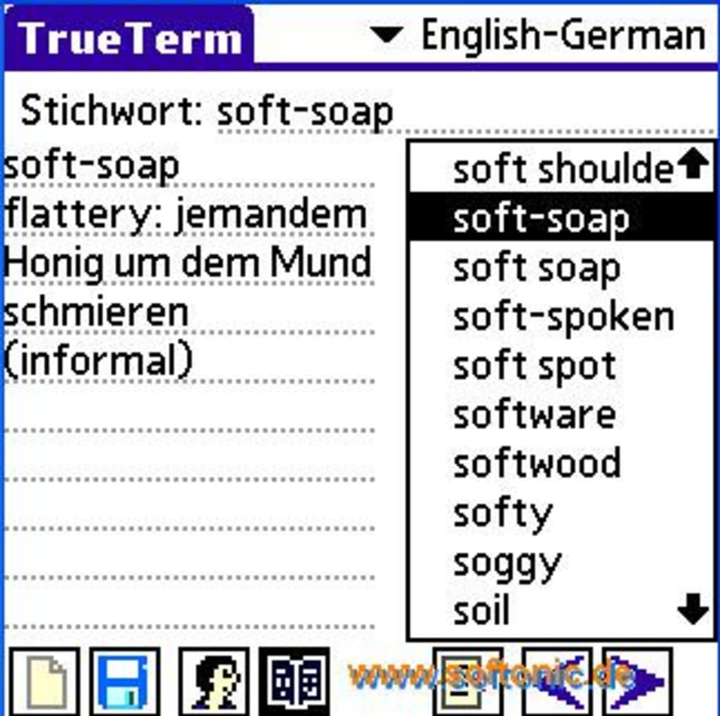 Trueterm w rterbuch deutsch englisch f r palm os download for Englisch deutsche ubersetzung