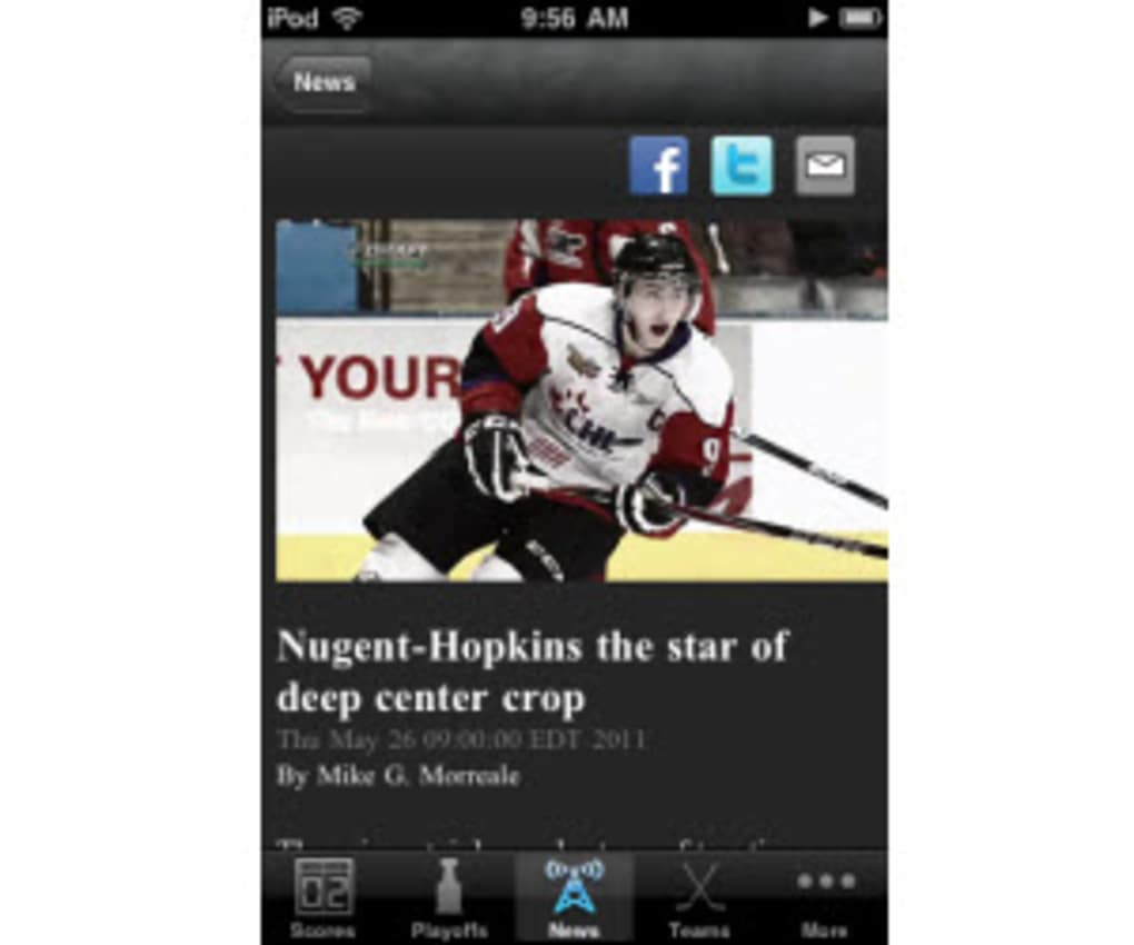 NHL GameCenter 2010 For IPhone