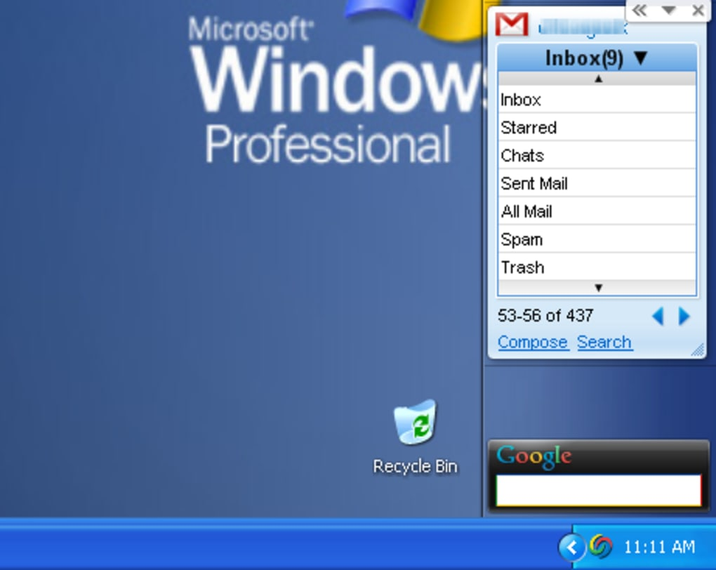 Google Gmail Gadget - Download