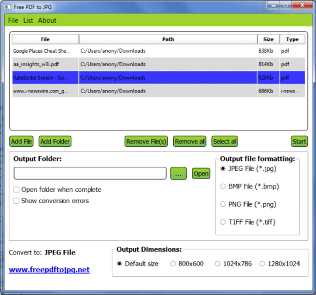 pdf to jpg converter free download softonic