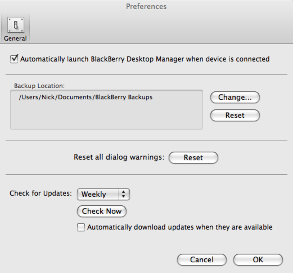 BlackBerry Desktop Manager for Mac - Download