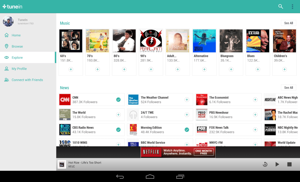 Tunein radio for pc download free -windows 7, 8, 8. 1, 10.