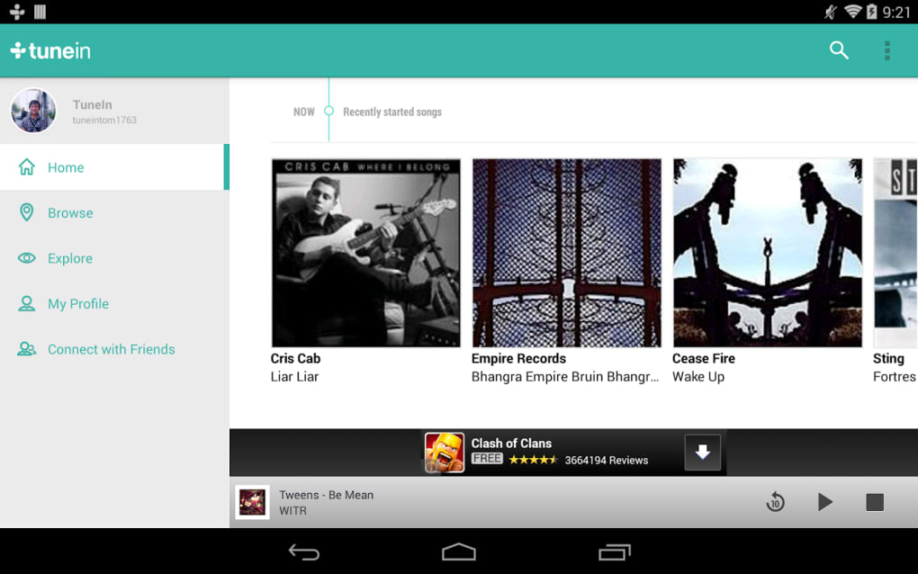 TuneIn Radio for Android - Download