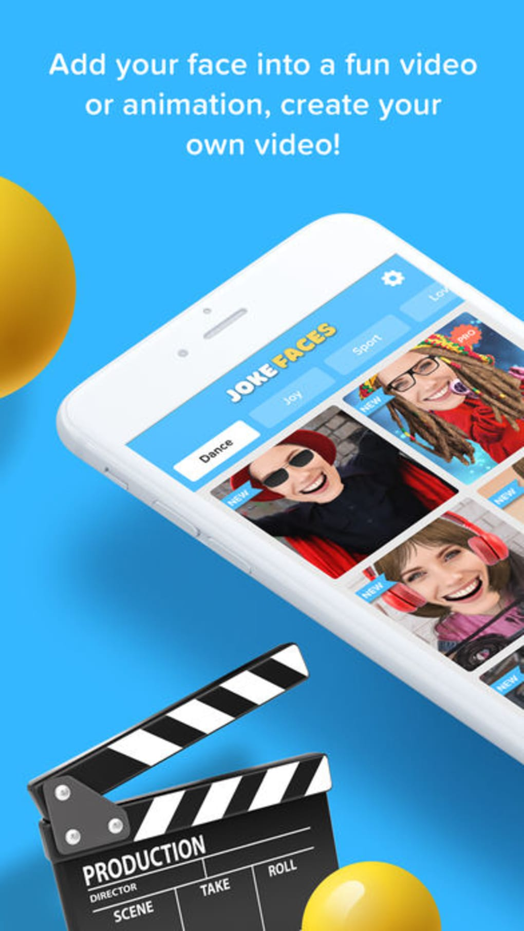 JokeFaces - Funny Video Maker for iPhone - Download