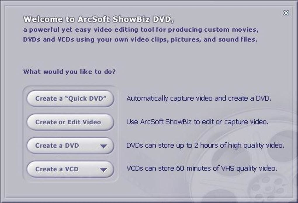 arcsoft showbiz dvd