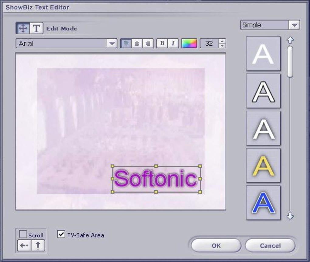 logiciel arcsoft showbiz
