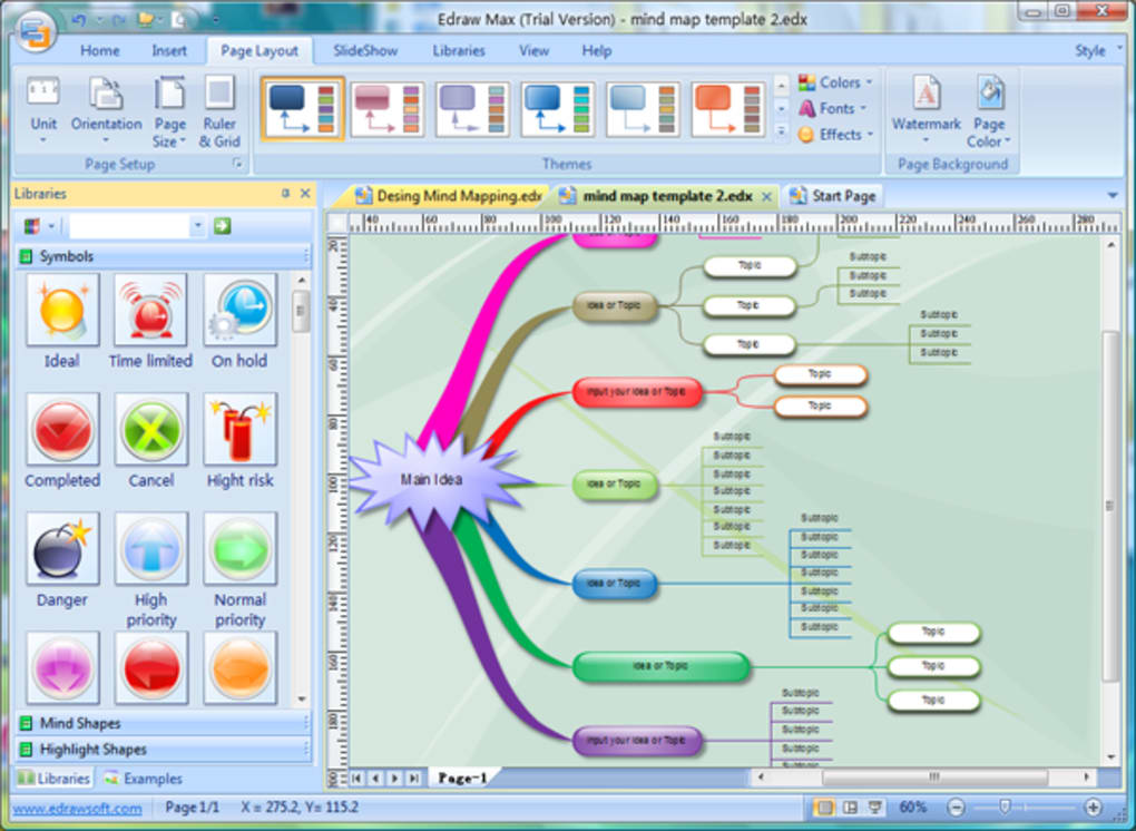 mind map template powerpoint free download - edraw mindmap descargar