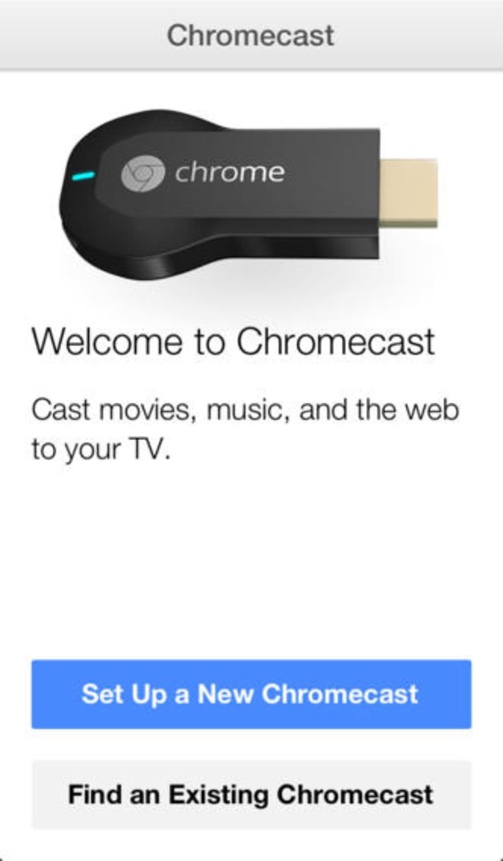 google chromecast setup english