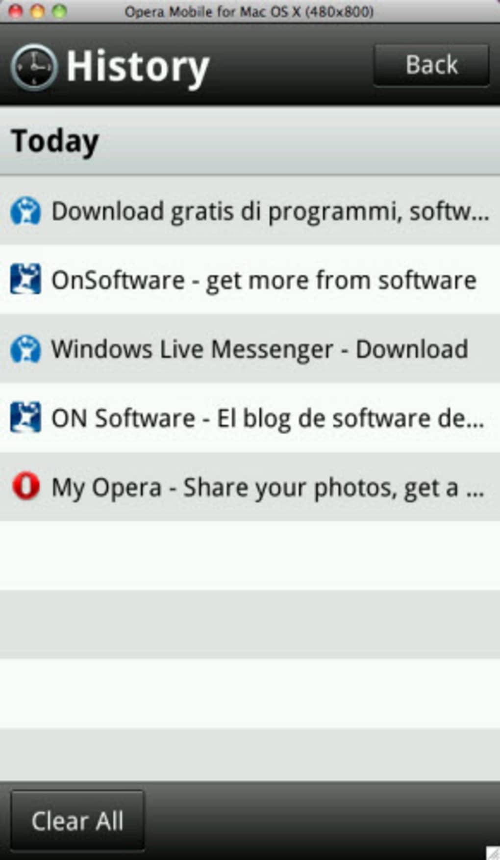 Opera Mobile Emulator per Mac - Download