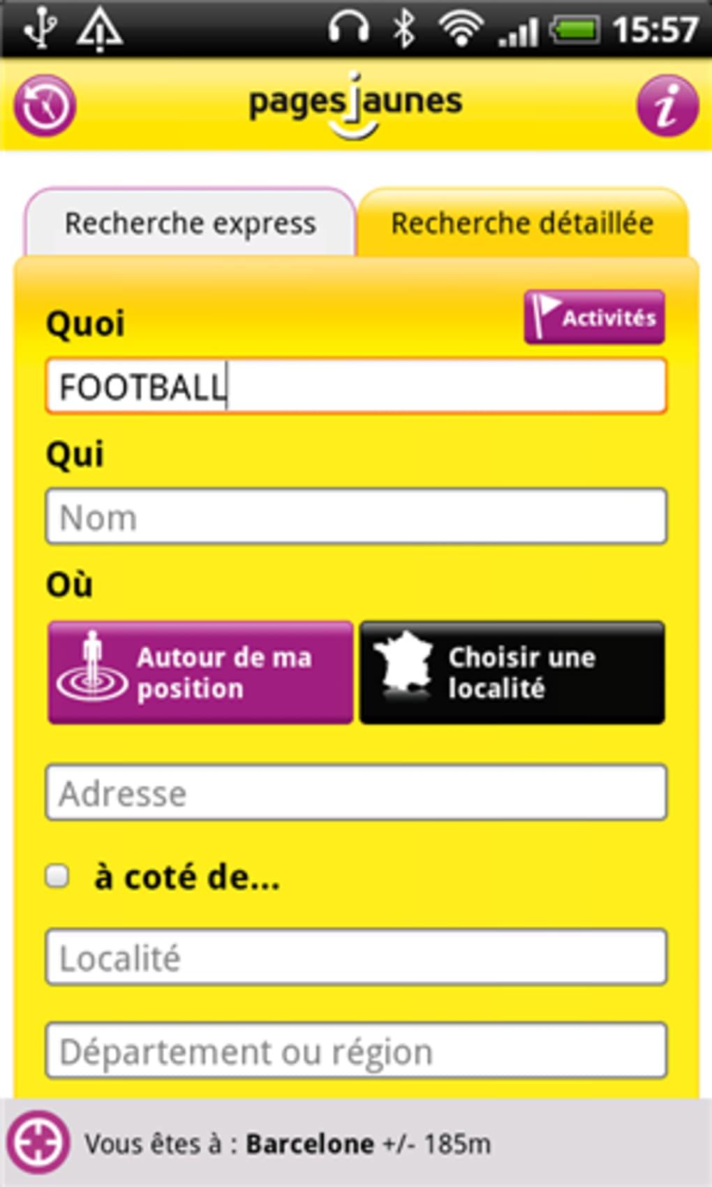 PagesJaunes pour Android - Télécharger