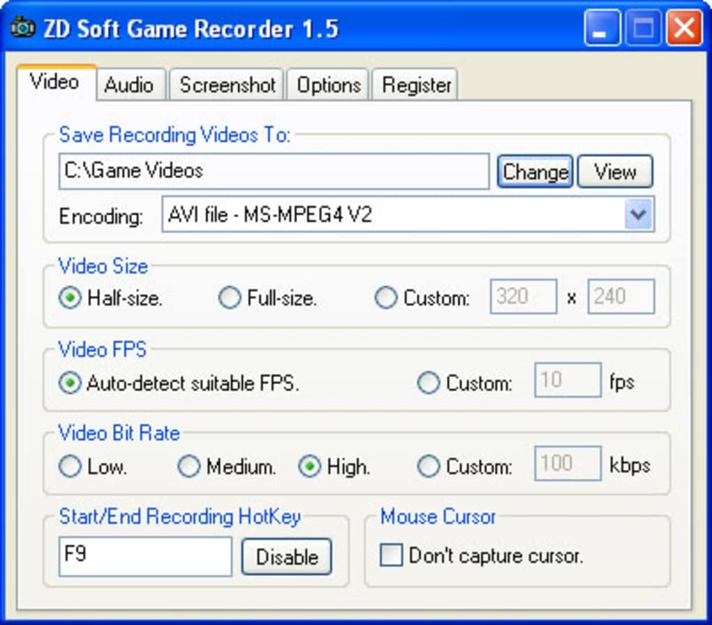 ZD Soft Game Recorder - Download