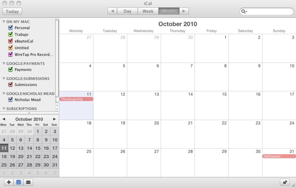 Canadian Holiday Calendar For Mac Download