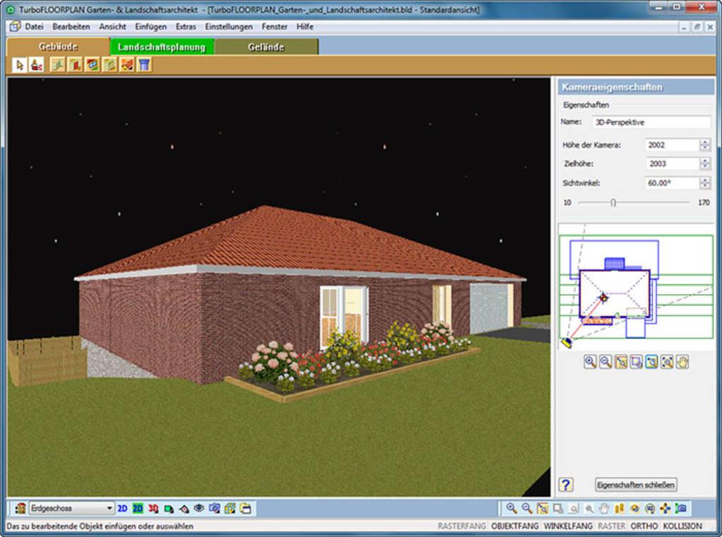 Turbo floorplan garten und landschaftsarchitekt download for Gartenplanung 3d software