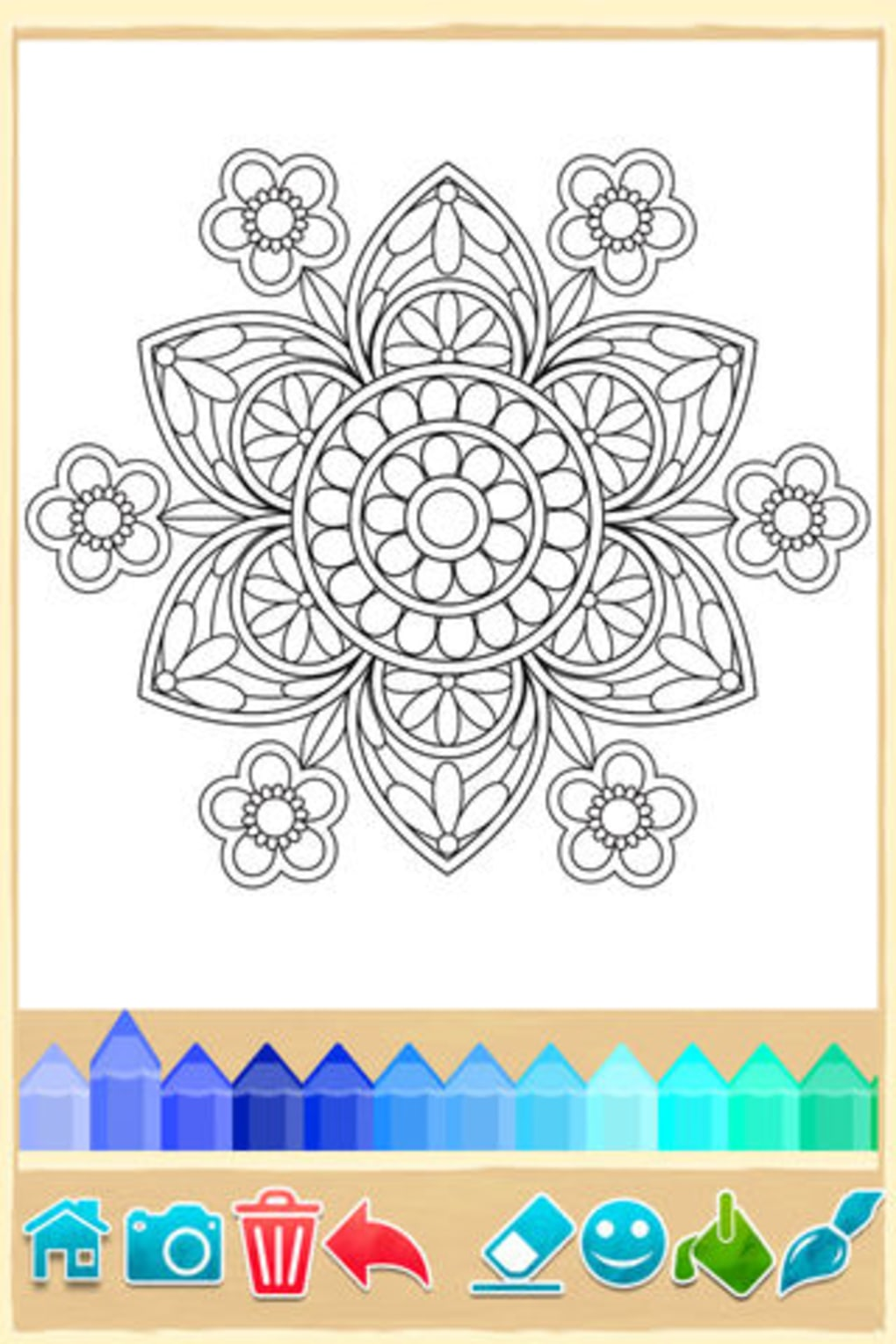 Mandala Coloring Pages Game for
