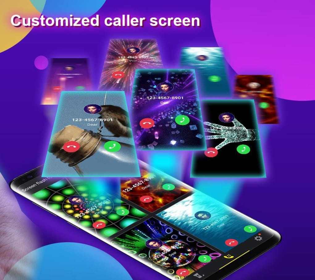 Phone Caller Screen Color Call Flash Theme for Android