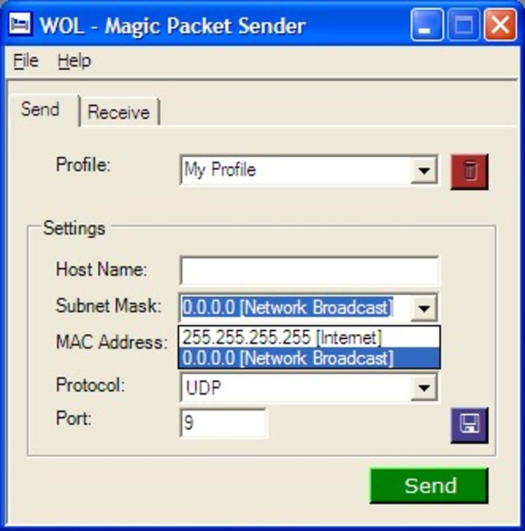 WOL - Magic Packet Sender - Download
