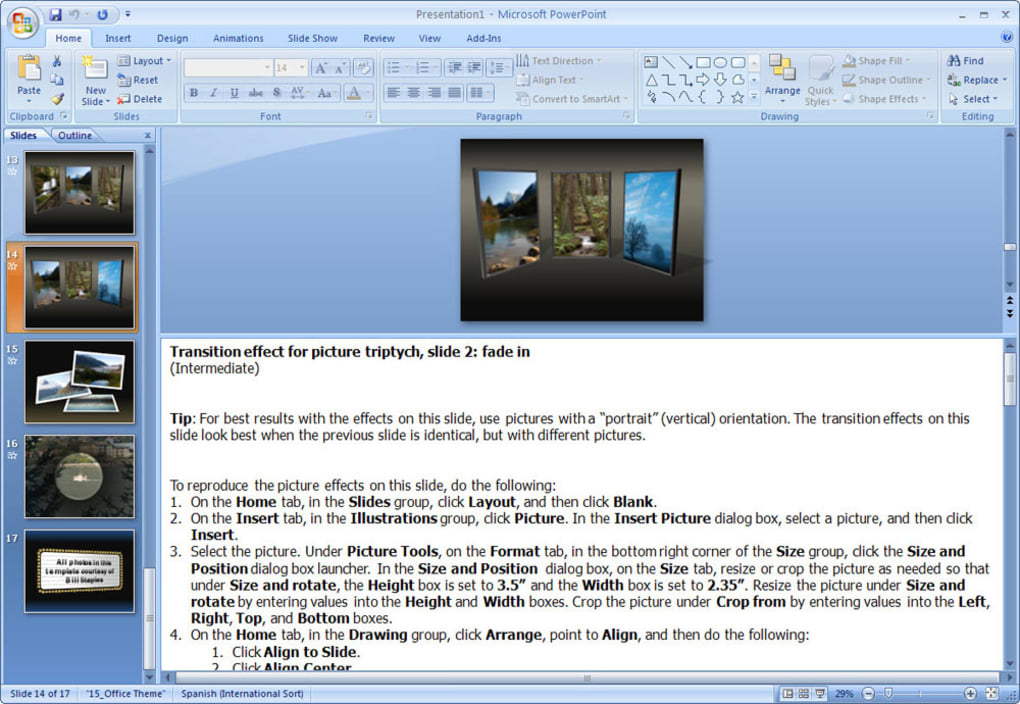 static picture effects for powerpoint slides download