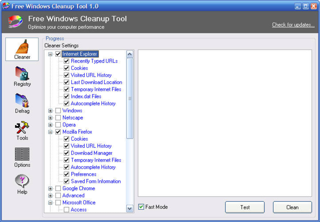 Free Windows Cleanup Tool (Windows) - Download