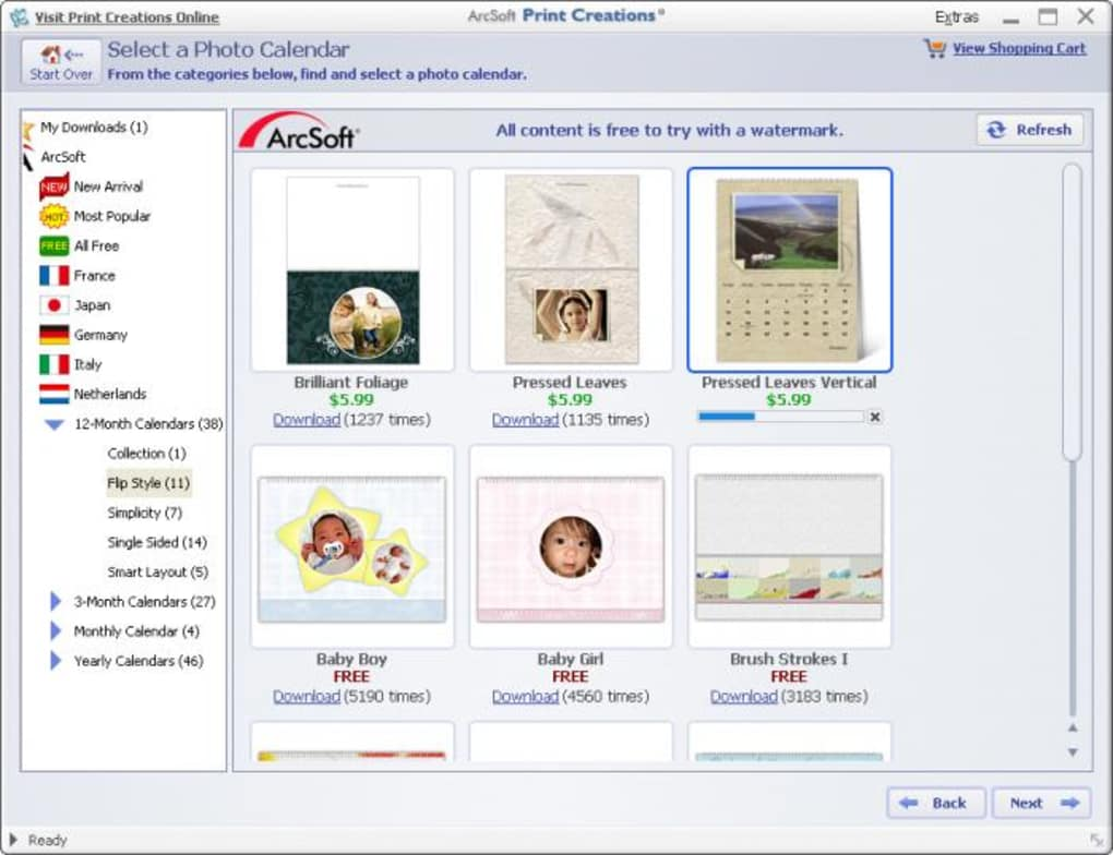 Manually uninstall ArcSoft Print Creations - Cards & Calendars step by step: