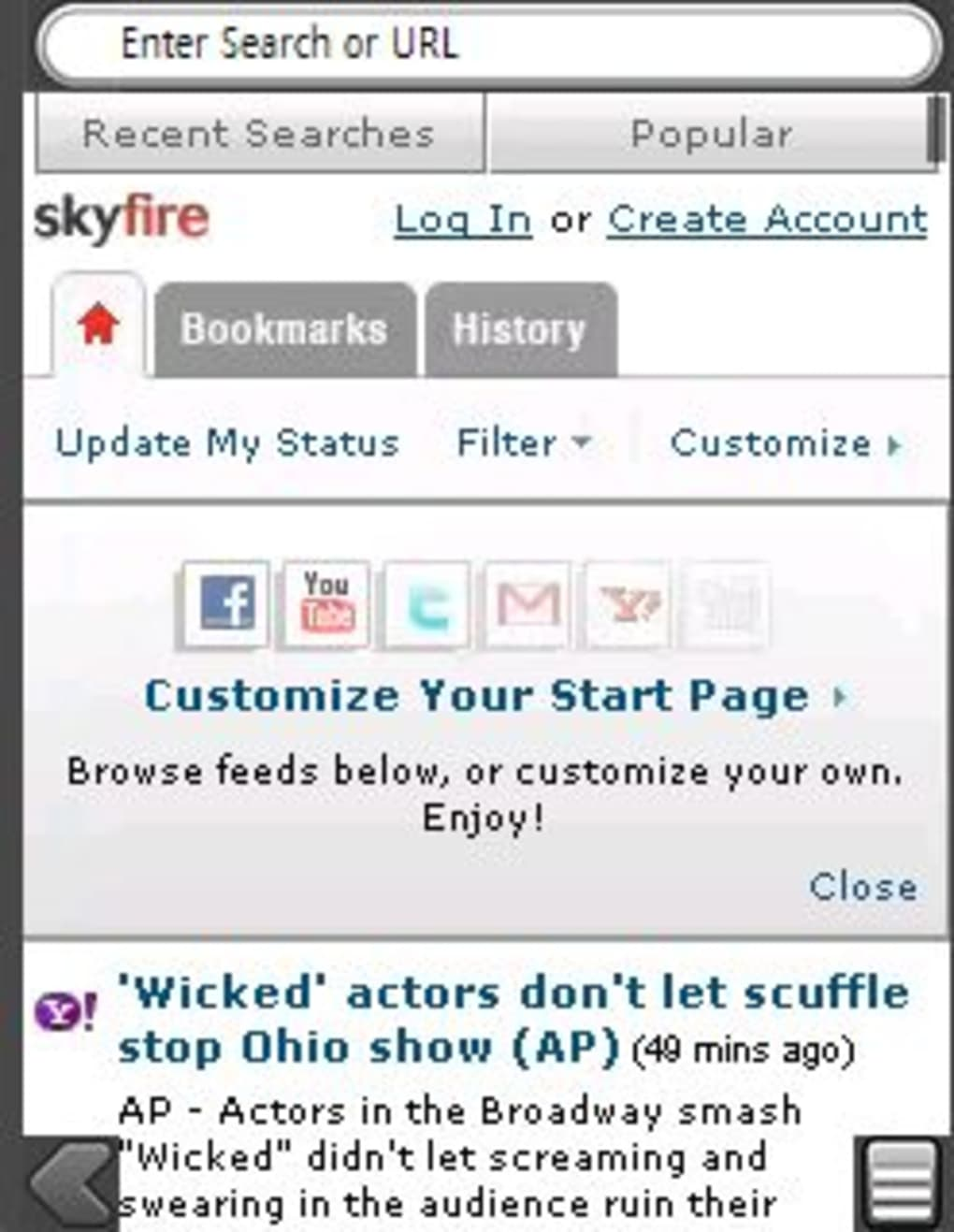 skyfire pour windows mobile 6.5