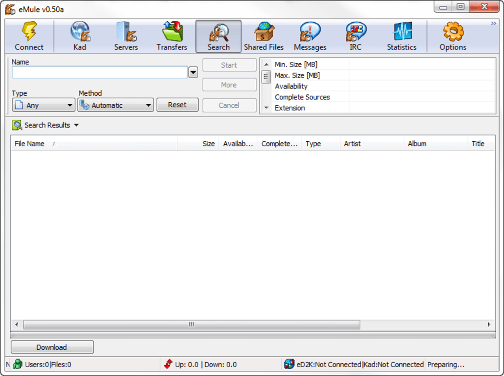 emule 0.60 pour windows 8