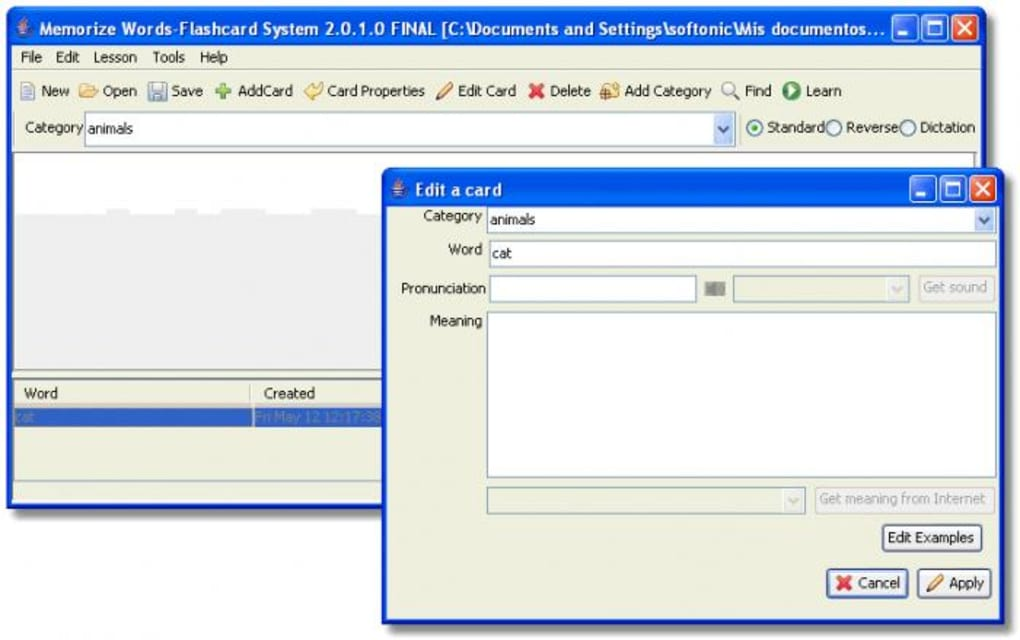 Memorize Word Flashcard System - Descargar