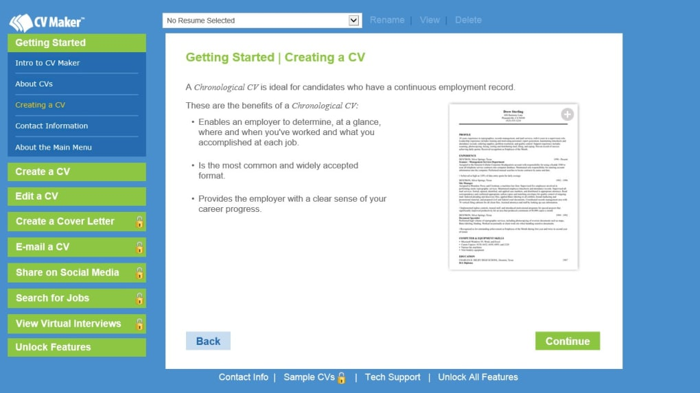 cv maker software free download for pc
