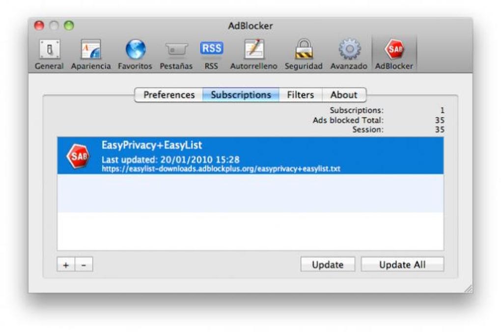 Safari AdBlocker para Mac - Descargar