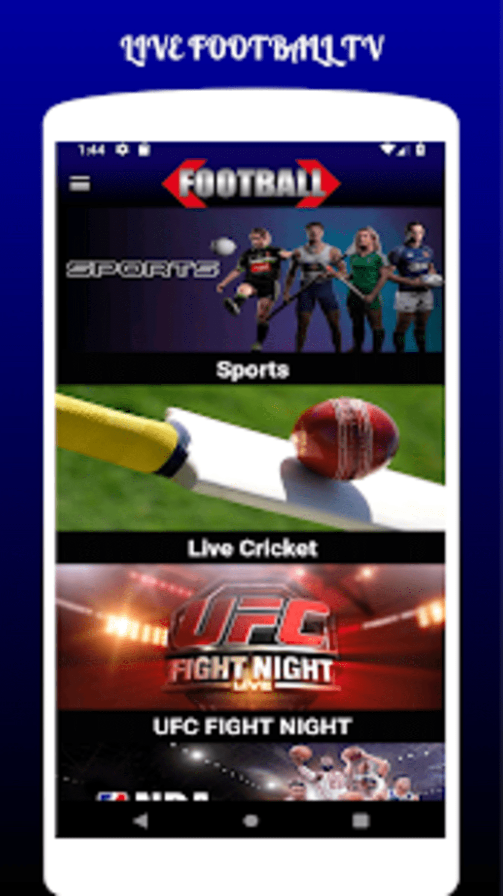 LIVE FOOTBALL TV STREAMING HD for Android - Download