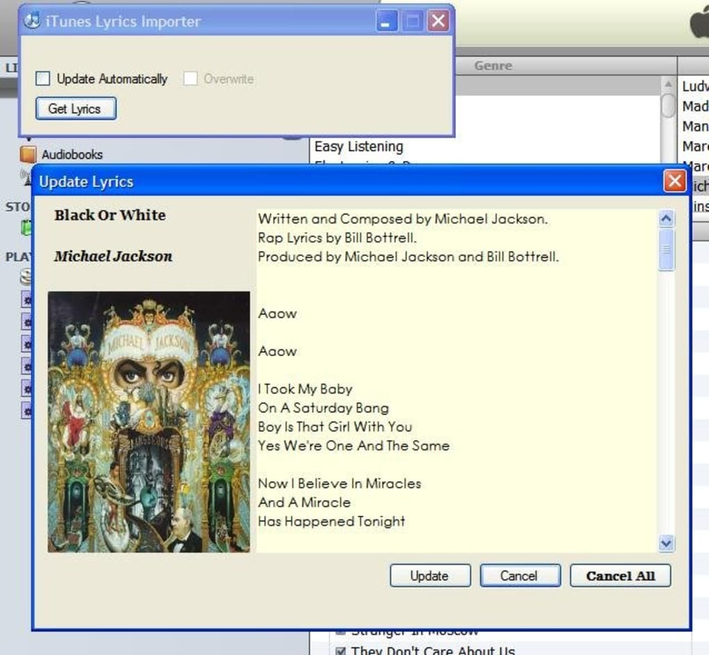 automatic itunes lyrics importer mac