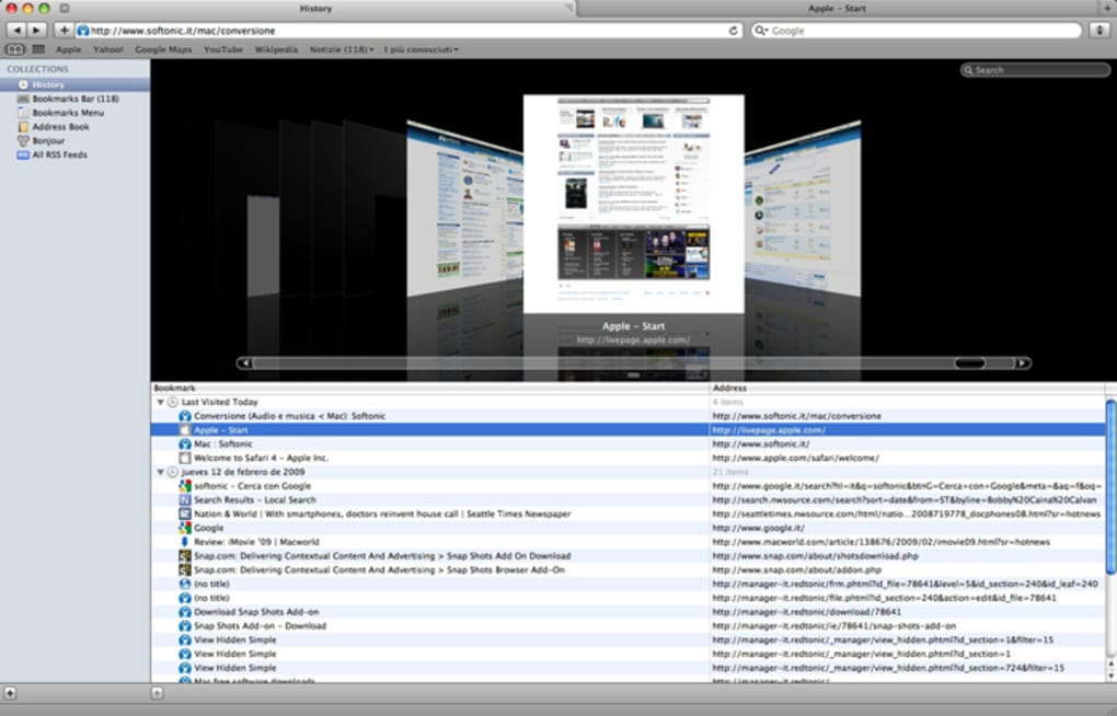 safari per mac os x 10.6.8