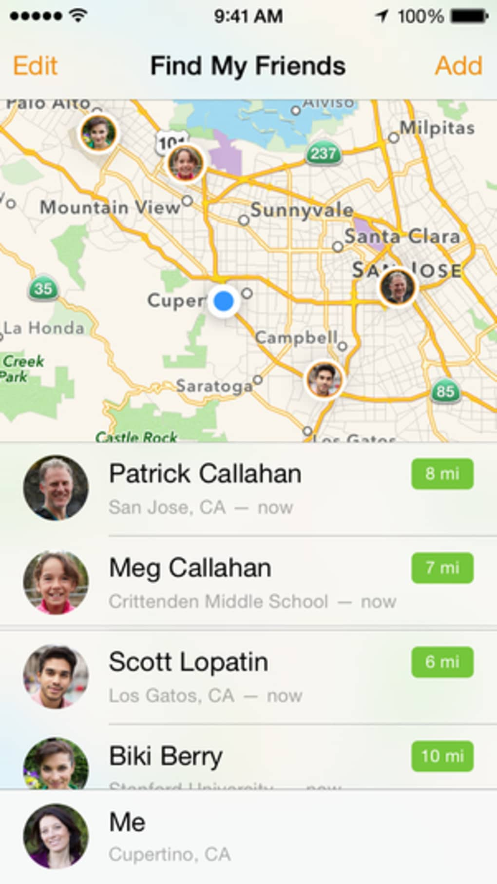 How to find friends who have apple watch