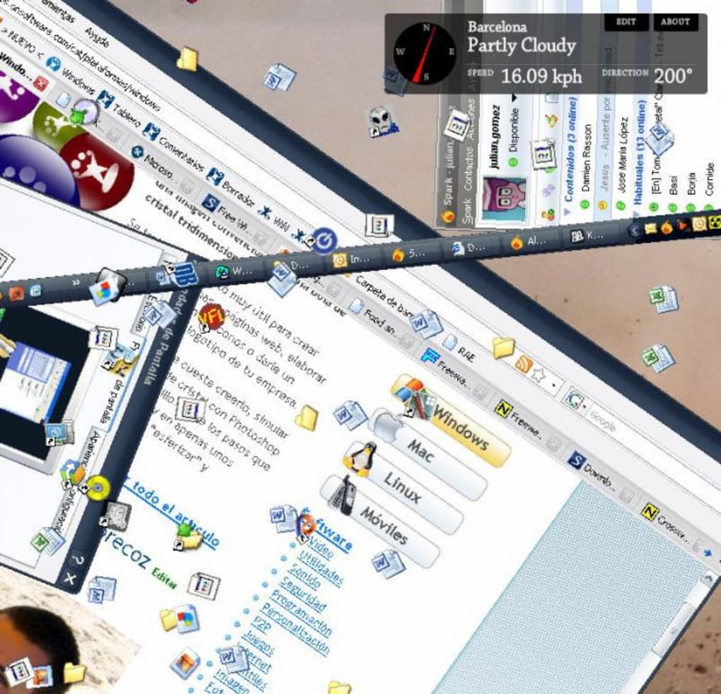 protector de pantalla kaze to desktop