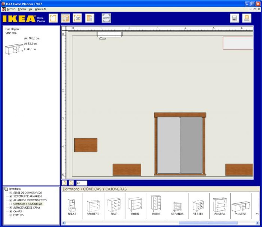 Ikea home planner bedroom descargar for Programa para disenar cuartos