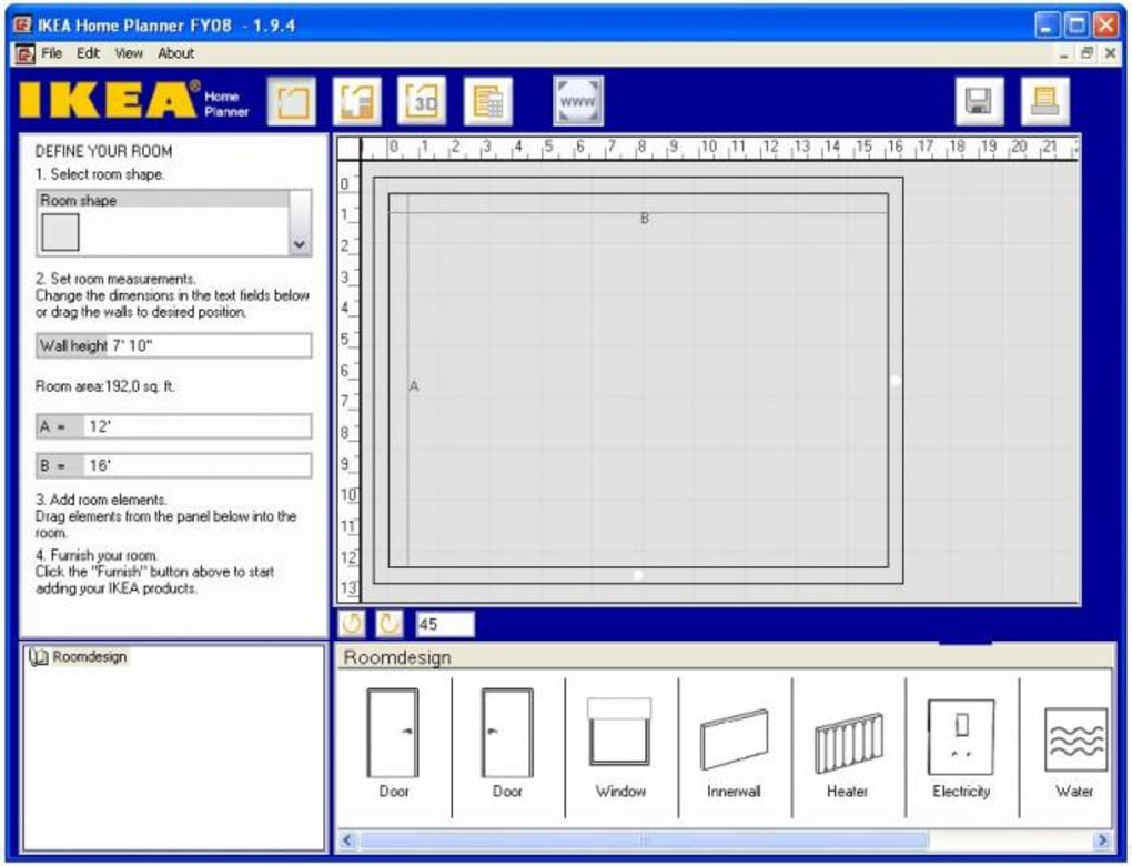 IKEA Home Planner Bedroom - Download