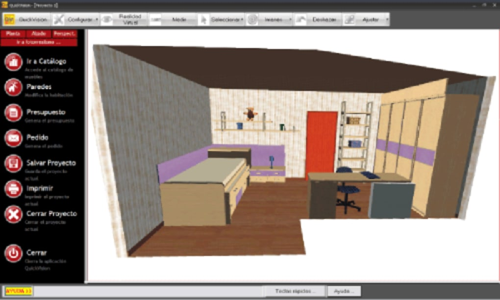 Quickmobel descargar for Software decoracion interiores 3d gratis